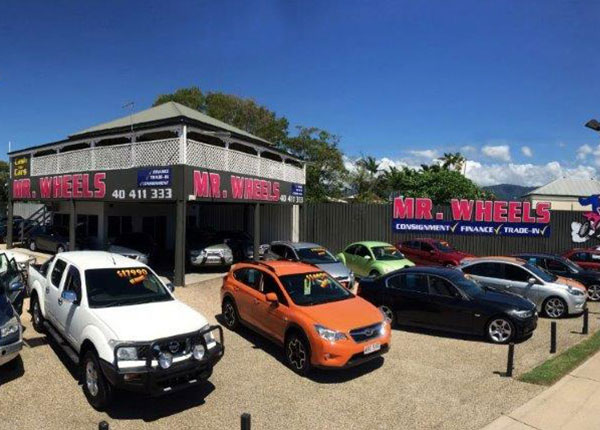 Outside Mr Wheels Cairns used car yard 2
